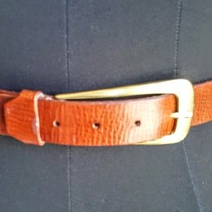Vintage leather and brass mesh belt size S